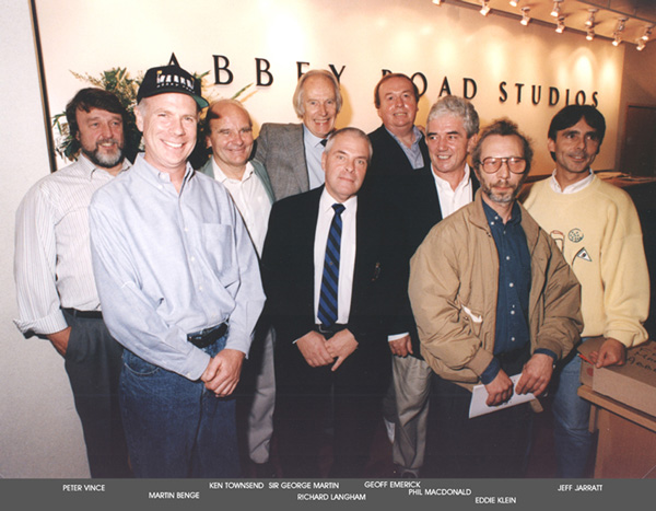 Abbey Road album engineers with George Martin